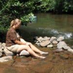 Lækker flod og slappe af dage