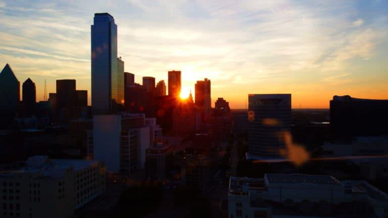 Udsigt fra hotel i Dallas
