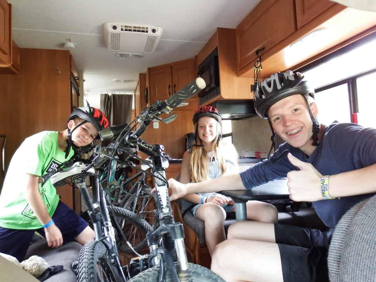 Der kan være mange cykler i en RV