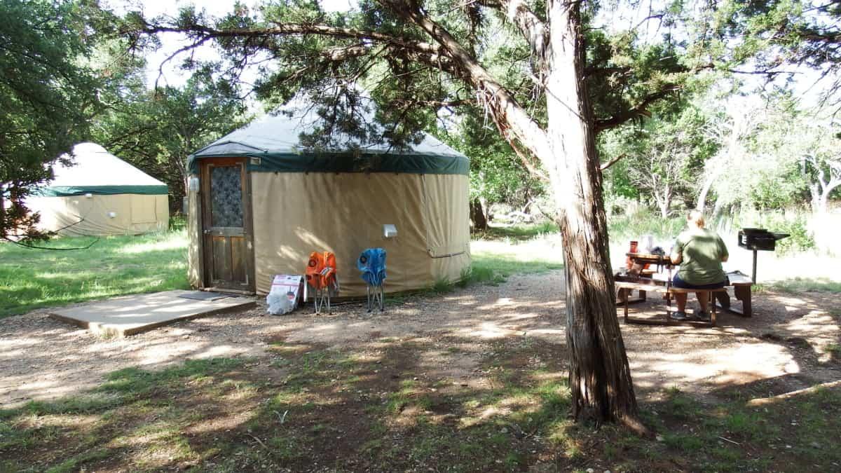 Yurt in Abilene State Park