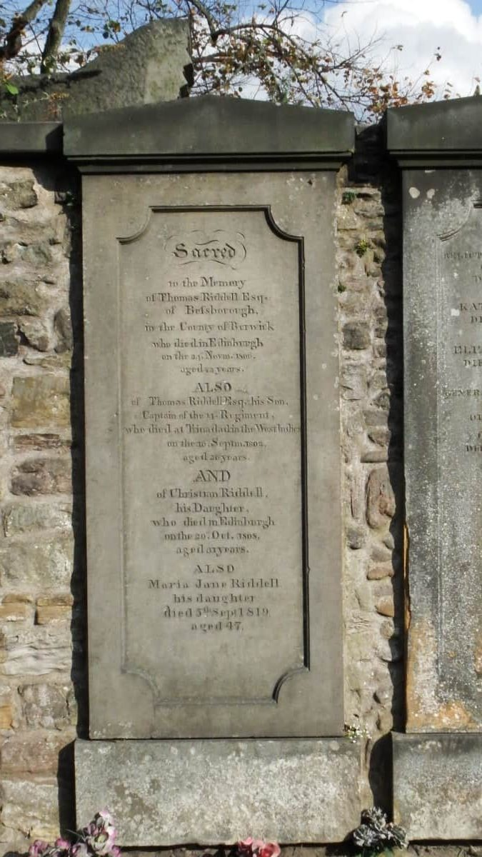 Grave of Thomas Riddell