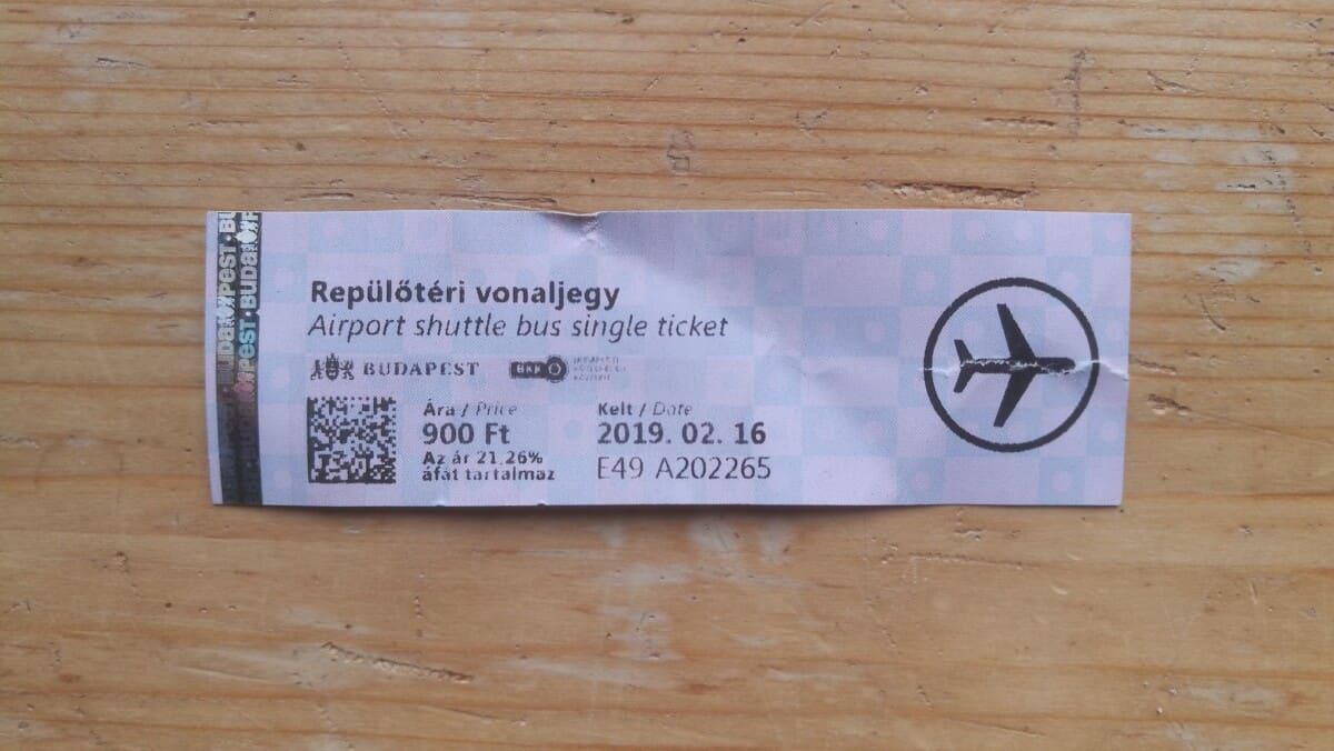 ticket airportbus budapest