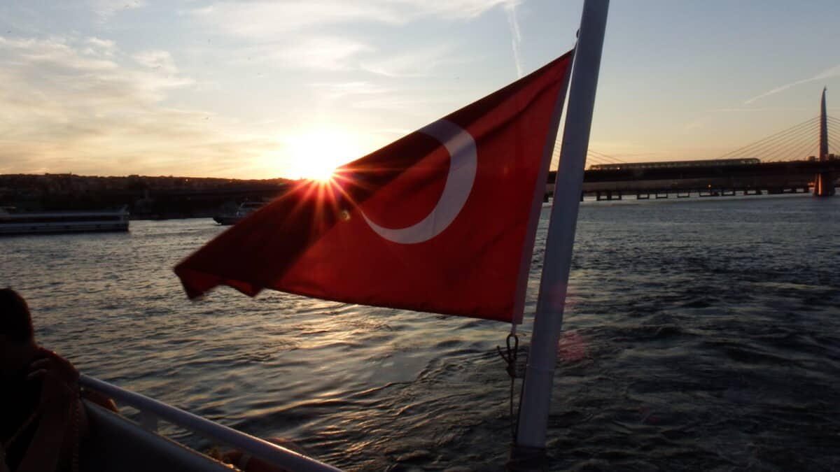 sailing on the Bosporus