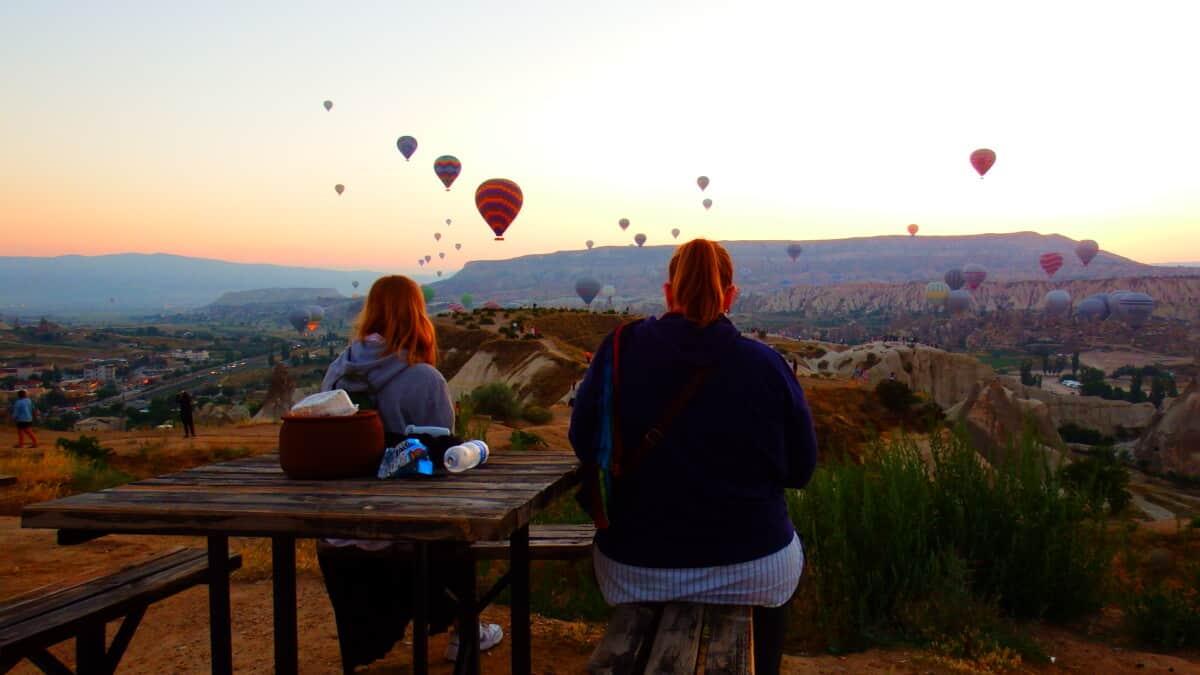 Varmluftballoner i Cappadocial