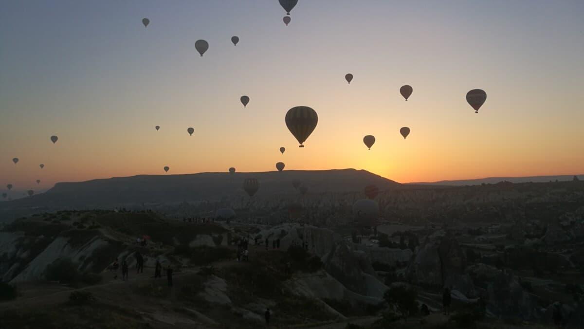 varmluftballoner i Cappadocia