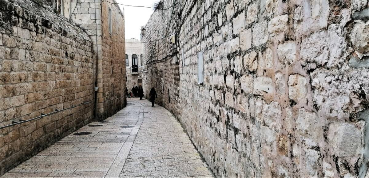 Empty street in old Jerusalem