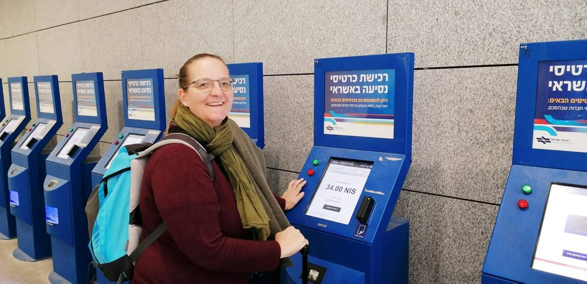 Billetautomat tog til Jerusalem