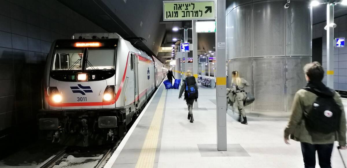 Tog fra lufthavnen til Jerusalem
