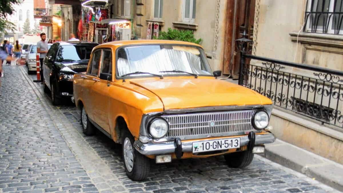 Old car in Baku, Azerbaijan