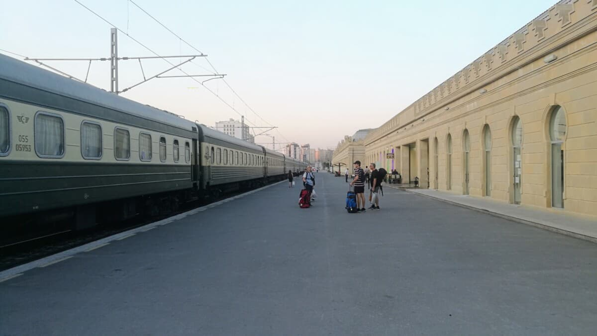 Trainstation Baku Azerbaijan