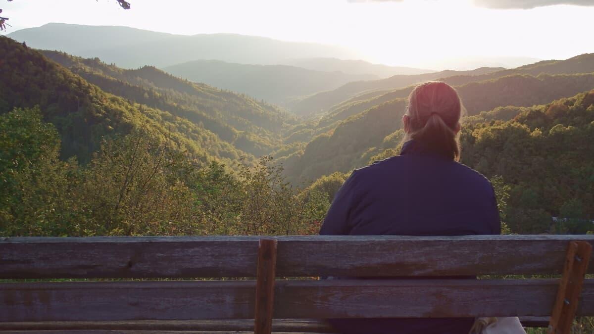 solnedgang Vikos Gorge